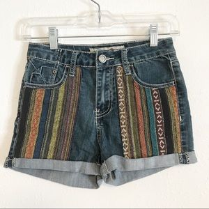 1st Kiss jean shorts multicolored design